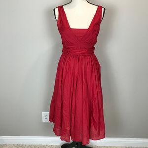 Women's Sz 4 Red Calvin Klein Dress
